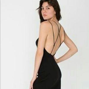 NWT American Apparel Strappy Little Black Dress